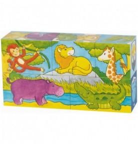 Puzzle de cubes Savane et banquise Montessori