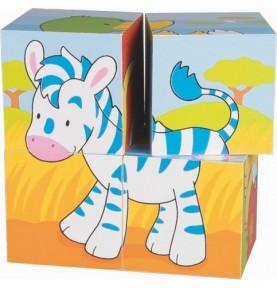 Puzzle de cubes animaux Montessori