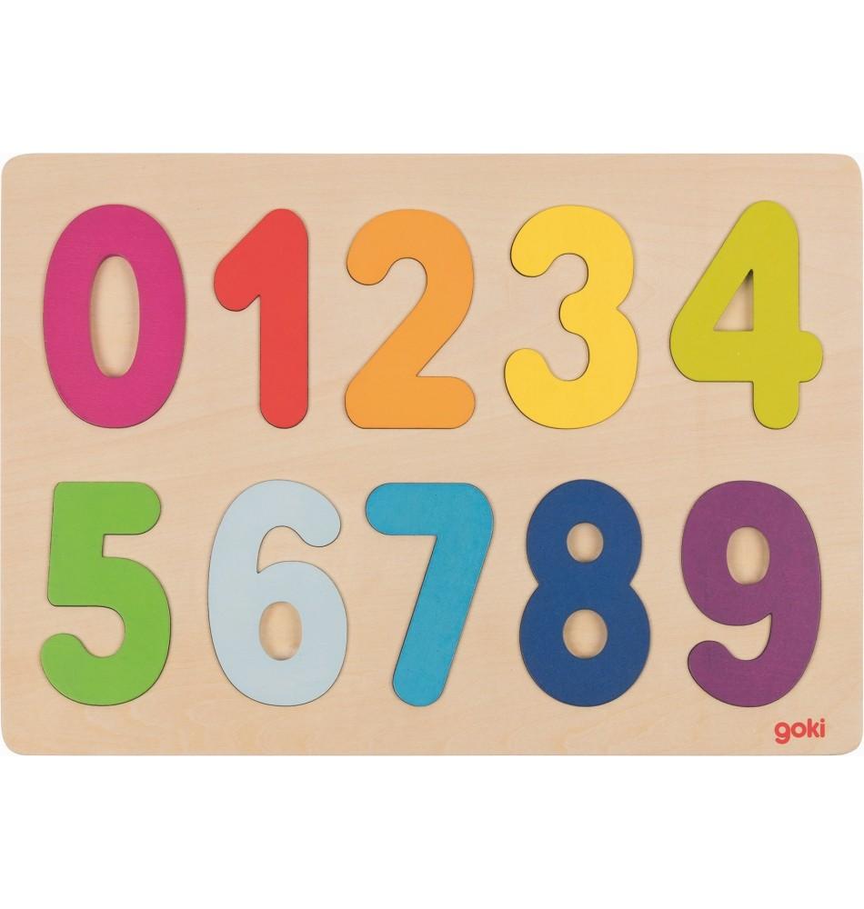 Chiffres puzzle 0-9 Montessori