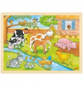 Puzzle Vie à la ferme Montessori