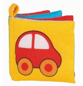 Livre d`images couineur en tissu Montessori