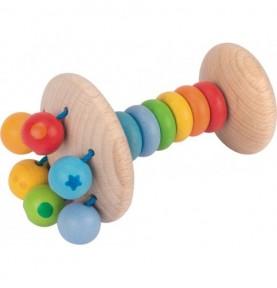 Hochet poignet arc-en-ciel Montessori