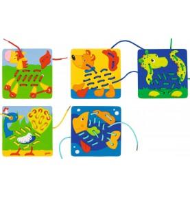 Carte à lacer Montessori