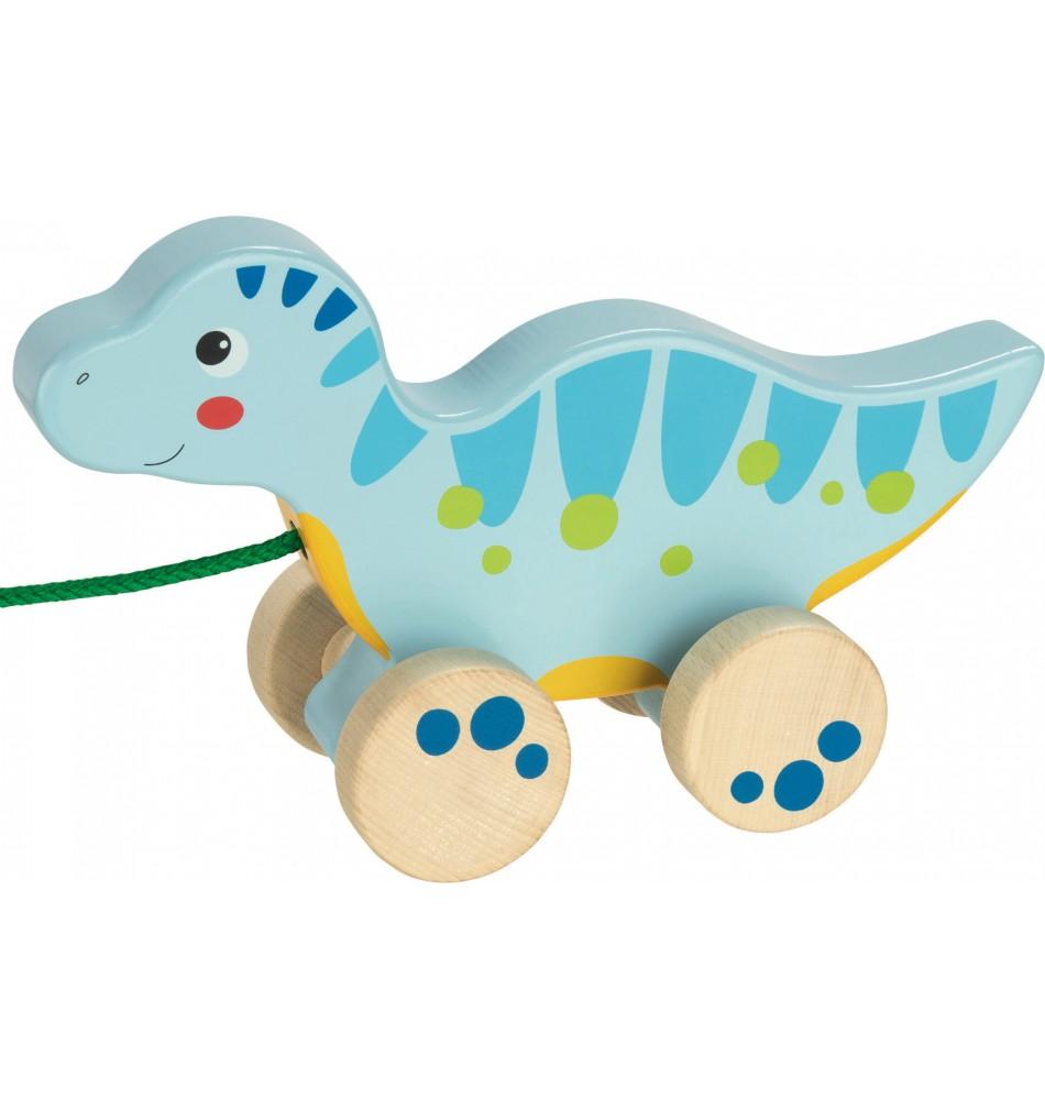 Dinosaure en bois - Jouet à tirer Montessori