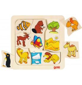 Puzzle association animaux