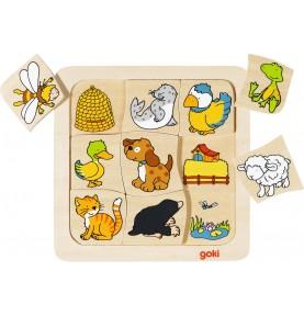 Puzzle en bois association