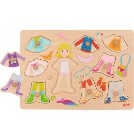 Puzzle à habiller - fille Montessori