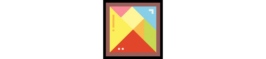 Tangram Montessori : Puzzle, casse tête & tangram Montessori