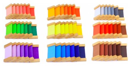 Montessori color chart